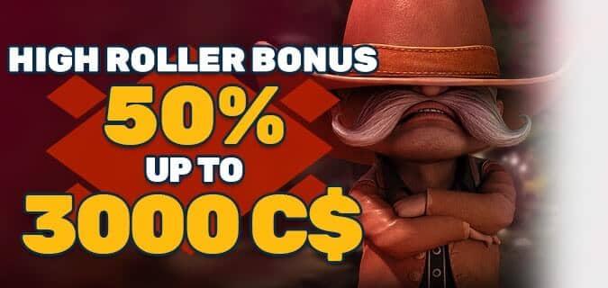 PlayAmo Highroller Bonus